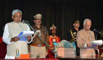 Bihar CM Taking oth Nitish Kumar