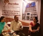 Dr. Nandini Gokulchandran with Nagpur cerebellar ataxia patient