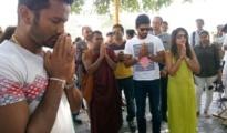 SL Captain Chandimal, Karunaratne visit Deekshabhoomi