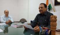 ADG Bhushankumar Upadhyay, IG Yogesh Desai,