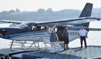 PM Modi in Seaplane