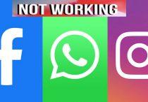 Facebook, Instagram, WhatsApp all Down