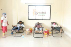 अग्रेसर फाउंडेशन तर्फे रक्तदान आणि प्लाझ्मा दान शिबिराचे आयोजित करण्यात आले.
