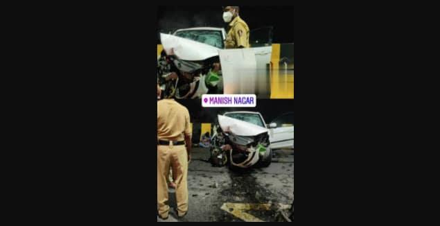 मनीषनगर ओवरब्रिज पर दुर्घटना, डिवाइडर से टकराई कार, 1 की मौत