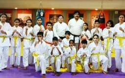 Anas, Ayesha, Aaliya, Zainab, Fatema bag Karate Orange Belts