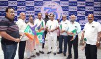 State Minister Sunil Kedar unveils NVCC flag